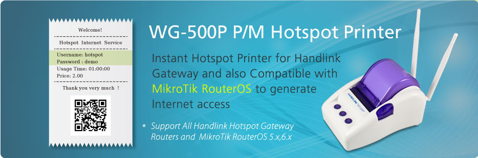 WG-500P Hotspot in a Printer